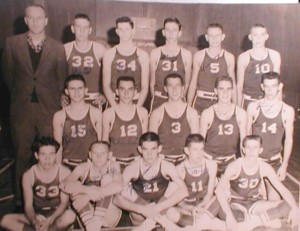 1960 OCHS Boys Basketball Team Coach Sonny Saye