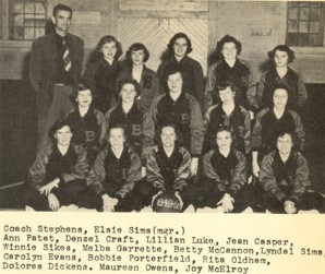 Bogart High School Girls Basketball 1950