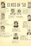 Bogart High School Seniors 1950 # 2 Pic